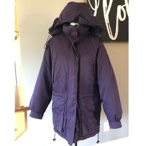 Eddie Bauer purple goose down winter coat